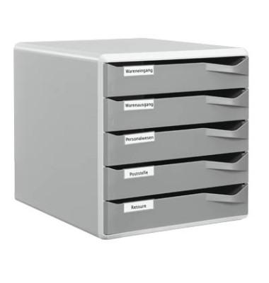 Schubladenbox 5280 Post-Set lichtgrau/dunkelgrau 5 Schubladen geschlossen