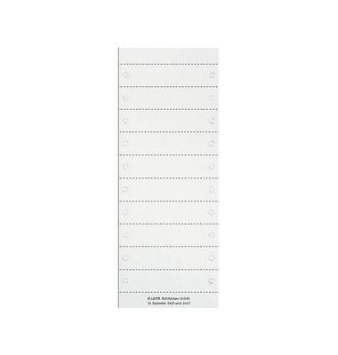Beschriftungsschilder blanko weiß 92 x 21mm 50 St
