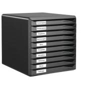 Schubladenbox 5294 Formular-Set schwarz/schwarz 10 Schubladen geschlossen