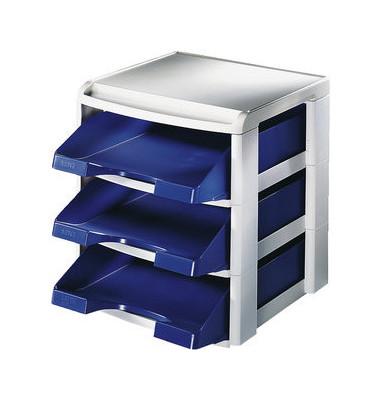 Briefablageset 5327 A4 / C4 blau 3 Körbe