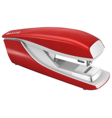 Heftgerät 5505 Flat Clinch rot bis 30 Blatt für 24/6 + 26/6