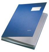 Unterschriftenmappe 5700 A4 Kunststoff blau mit Einsteckschild 20 Fächer