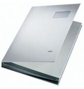Unterschriftenmappe 5700 A4 Kunststoff lichtgrau mit Einsteckschild 20 Fächer