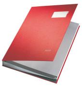 Unterschriftenmappe 5700 A4 Kunststoff rot mit Einsteckschild 20 Fächer