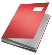 Unterschriftsmappe Kunststoff rot A4 20-teilig