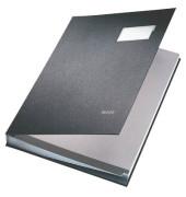 Unterschriftenmappe 5700 A4 Kunststoff schwarz mit Einsteckschild 20 Fächer
