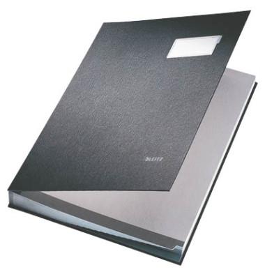 Unterschriftsmappe Kunststoff schwarz A4 20-teilig