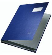 Unterschriftsmappe Kunststoff blau A4 10-teilig