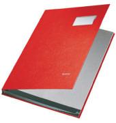 Unterschriftenmappe 5701 A4 Kunststoff rot mit Einsteckschild 10 Fächer