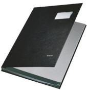 Unterschriftsmappe Kunststoff schwarz A4 10-teilig