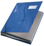 Unterschriftsmappe Design A4 blau 240x340x25mm 18Fächer