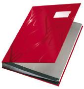 Unterschriftsmappe Design A4 rot 240x340x25mm 18Fächer