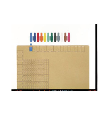 Signalreiter 0,3mm Hartfolie blau 40x12mm 50 St