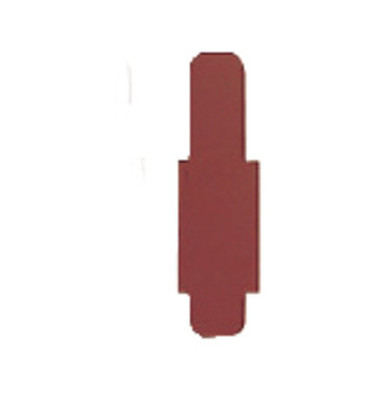 Signalreiter 0,3mm Hartfolie braun 40x12mm 50 St