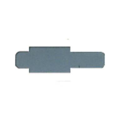 Signalreiter 0,3mm Hartfolie grau 40x12mm 50 St