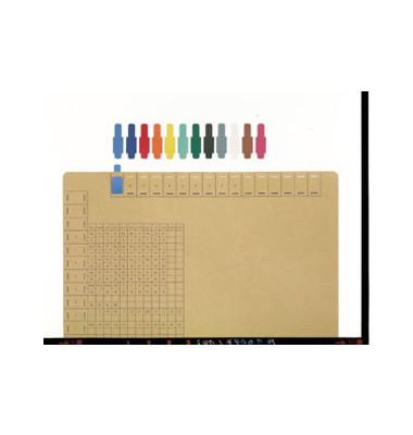 Signalreiter 0,3mm Hartfolie schwarz 40x12mm 50 St