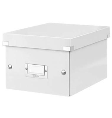 Aufbewahrungsbox Click & Store weiß 20 x 25 x 14,8 cm DIN A5