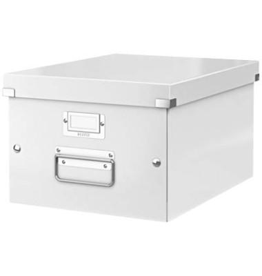 Aufbewahrungsbox Click & Store weiß 26,5 x 33,5 x 18,8 cm DIN A4