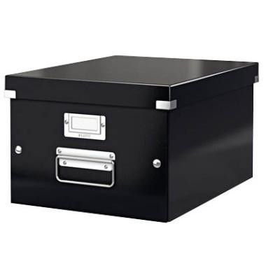 Leitz Aufbewahrungsbox Click Store Schwarz 26 5 X 33 5 X 18 8 Cm