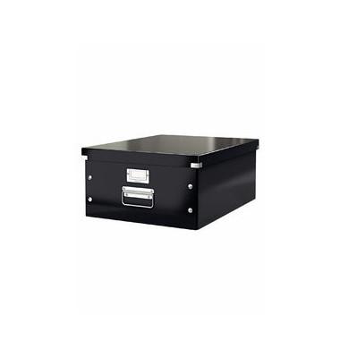 Aufbewahrungsbox Click & Store A3 WOW schwarz 35 x 45 x 18,8 cm