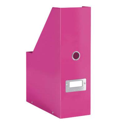 Stehsammler 6047-00-23 Click&Store 103x253x330 A4 Hartpappe pink