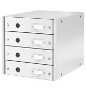Schubladenbox Click&Store 6049-00-01 weiß/weiß 4 Schubladen geschlossen