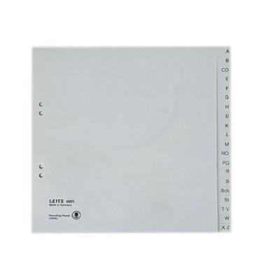 Kartonregister 6095 A-Z A4 halbe Höhe 100g graue Taben 20-teilig