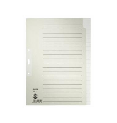 Kartonregister 6096-00-85 blanko A4 100g graue Taben 20-teilig