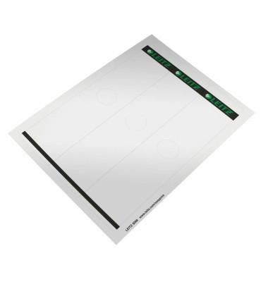 6098-00-85 61 x 279 mm Rückenschilder weiß 75 Stück zum aufkleben für Hängeordner