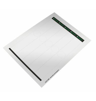 6099 34 x 279 mm Rückenschilder weiß 125 Stück für z.B. schmale Hängeordner