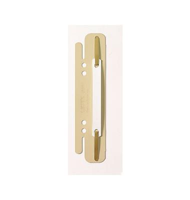 Einhängeheftstreifen 6130-00-12, 38x158mm, einsteckbar, Kunststoff mit Kunststoffdeckleiste, chamois, 25 Stück