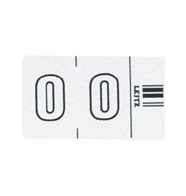 6600 Ziffernsignale Orgacolor Ziffer 0 weiß 23x30mm 100 Stück