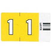 6601 Ziffernsignale Orgacolor Ziffer 1 gelb 23x30mm 100 Stück