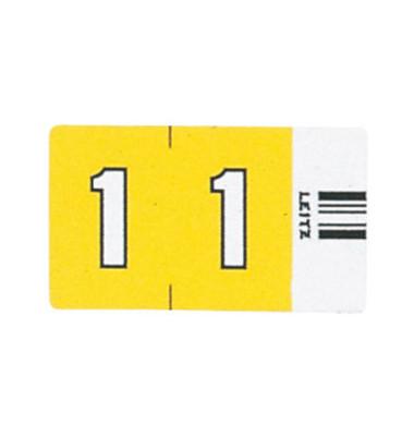 6601 Ziffernsignale Orgacolor Ziffer 1 gelb 23x30mm 500 Stück