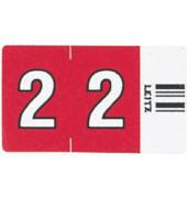 6602 Ziffernsignale Orgacolor Ziffer 2 rot 23x30mm 100 Stück