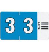6603 Ziffernsignale Orgacolor Ziffer 3 blau 23x30mm 500 Stück