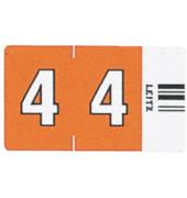 6604 Ziffernsignale Orgacolor Ziffer 4 orange 23x30mm 100 Stück