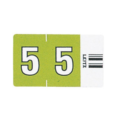 6605 Ziffernsignale Orgacolor Ziffer 5 grün 23x30mm 100 Stück
