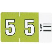 6605 Ziffernsignale Orgacolor Ziffer 5 grün 23x30mm 500 Stück