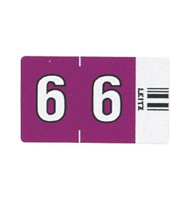 6606 Ziffernsignale Orgacolor Ziffer 6 violett 23x30mm 100 Stück