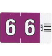 6606 Ziffernsignale Orgacolor Ziffer 6 violett 23x30mm 500 Stück