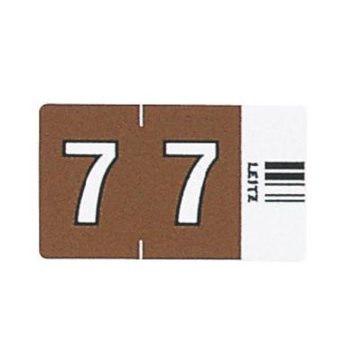 6607 Ziffernsignale Orgacolor Ziffer 7 braun 23x30mm 100 Stück
