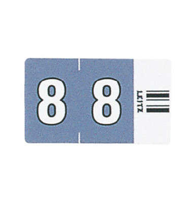6608 Ziffernsignale Orgacolor Ziffer 8 dunkelgrau 23x30mm 100 Stück