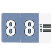 6608 Ziffernsignale Orgacolor Ziffer 8 dunkelgrau 23x30mm 500 Stück