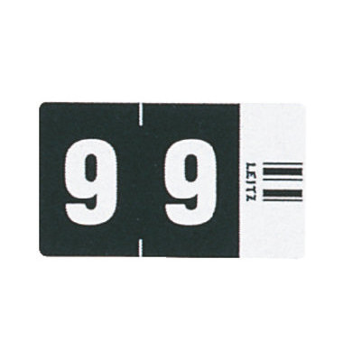 6609 Ziffernsignale Orgacolor Ziffer 9 schwarz 23x30mm 100 Stück