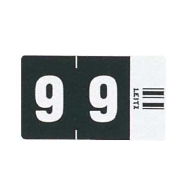 6609 Ziffernsignale Orgacolor Ziffer 9 schwarz 23x30mm 500 Stück