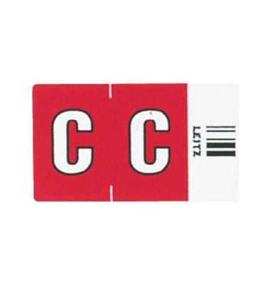 6612 Ziffernsignale Orgacolor Buchstaben C rot 23x30mm 250 Stück