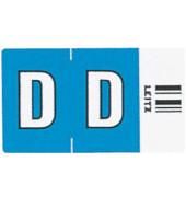 6613 Ziffernsignale Orgacolor Buchstaben D blau 23x30mm 250 Stück