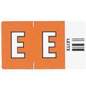 6614 Ziffernsignale Orgacolor Buchstaben E orange 23x30mm 250 Stück