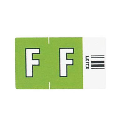 6615 Ziffernsignale Orgacolor Buchstaben F grün 23x30mm 250 Stück